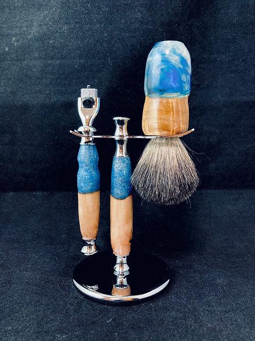 Blue Figi Shave Set