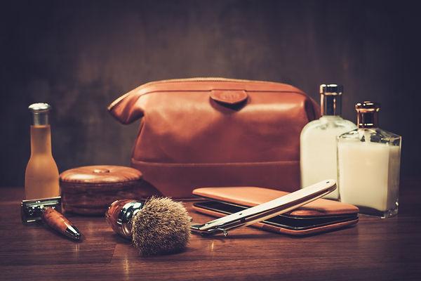 Gentleman's accessories on a luxury wood