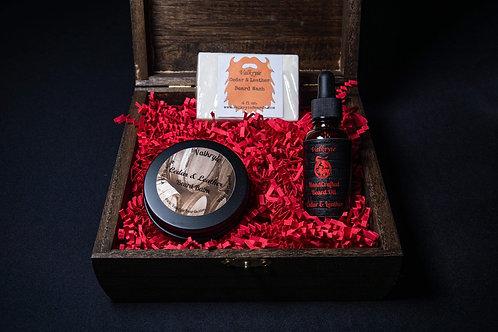 Cedar and Leather Beard Care Kit