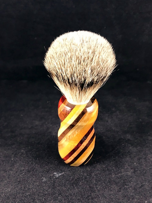Stripped Wood Shave Brush