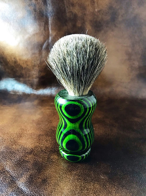 Green Stripped Wooden Shave Brush