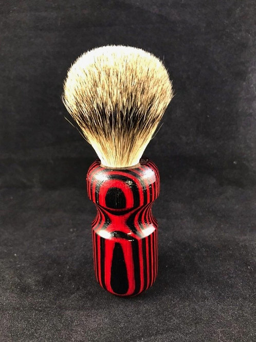 Red Stripped Wooden Shave Brush