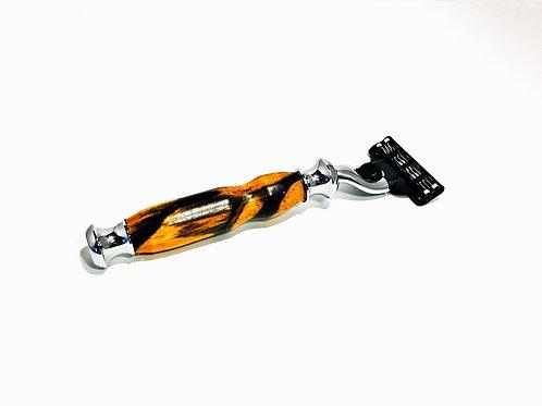 Black and White Ebony Gillette Mach 3 Razor