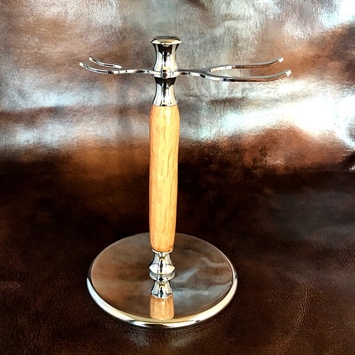 Red Oak Shave Brush & Razor Stand