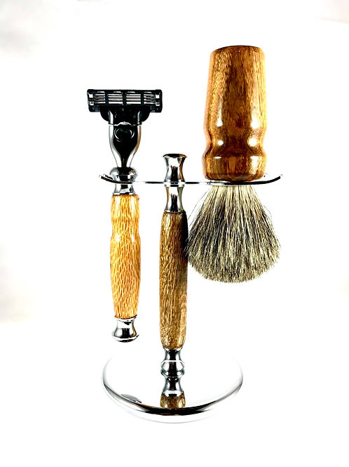 Oak Wood Shave Set