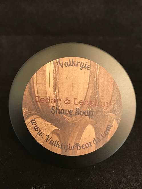 Cedar and Leather Shave Soap