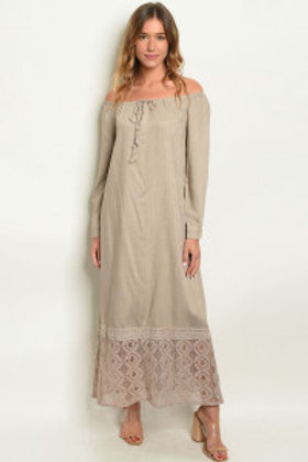 S6-8-2-D8404 TAUPE DRESS