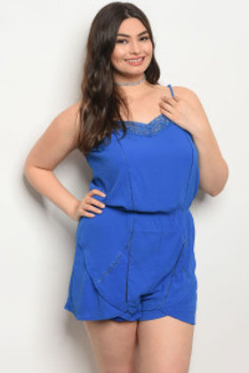 131-2-4-R7026X ROYAL PLUS SIZE ROMPER