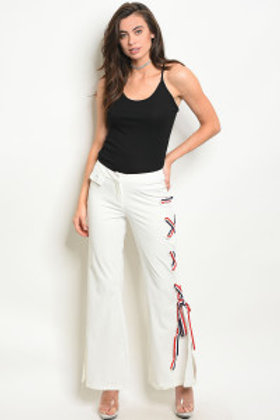 121-1-5-P47043 IVORY RED PANTS