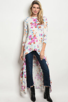 S23-5-4-T1436 IVORY FLORAL TOP