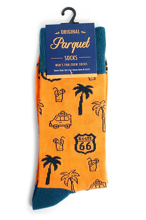 Men's Route 66 Novelty Fun Socks