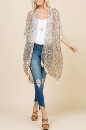 S66-1-AHDF2221WT WHITE KNEE LENGTH FLORAL CARDIGAN