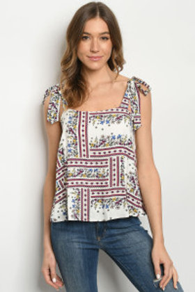 S8-9-2-T6479 IVORY FLORAL TOP