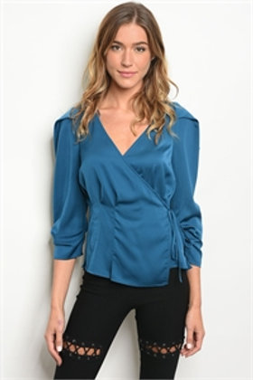 S6-2-2-T27317 TEAL TOP