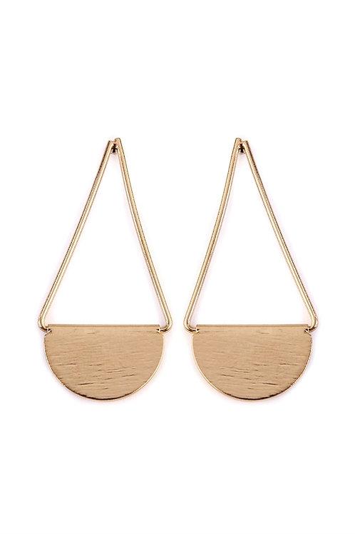 S5-5-2-AHDE2069G GOLD DROP SWING EARRINGS