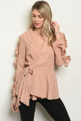 S8-10-2-T22150 TAUPE STRIPES TOP