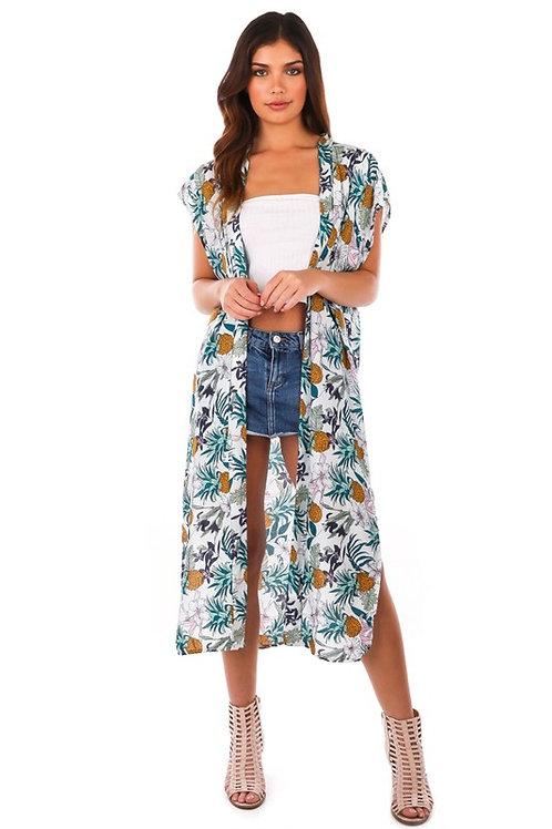 Cloud Dancer Maxi Kimono MMP5214