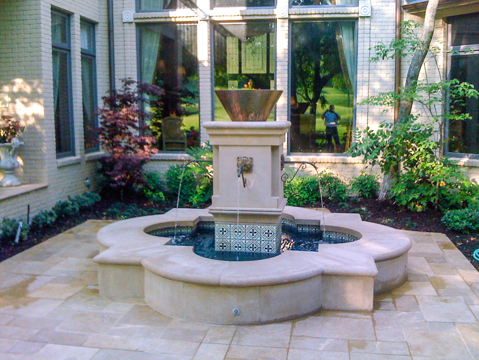 Custom Fountain with Firebowl