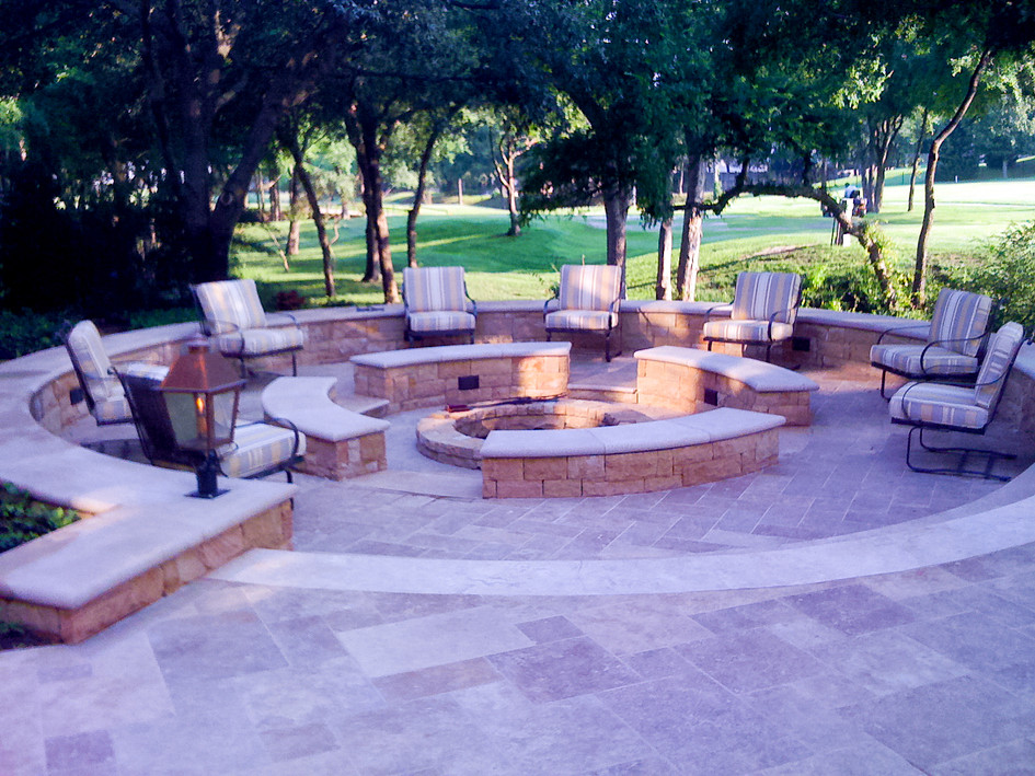 Custom Multi-level Firepit