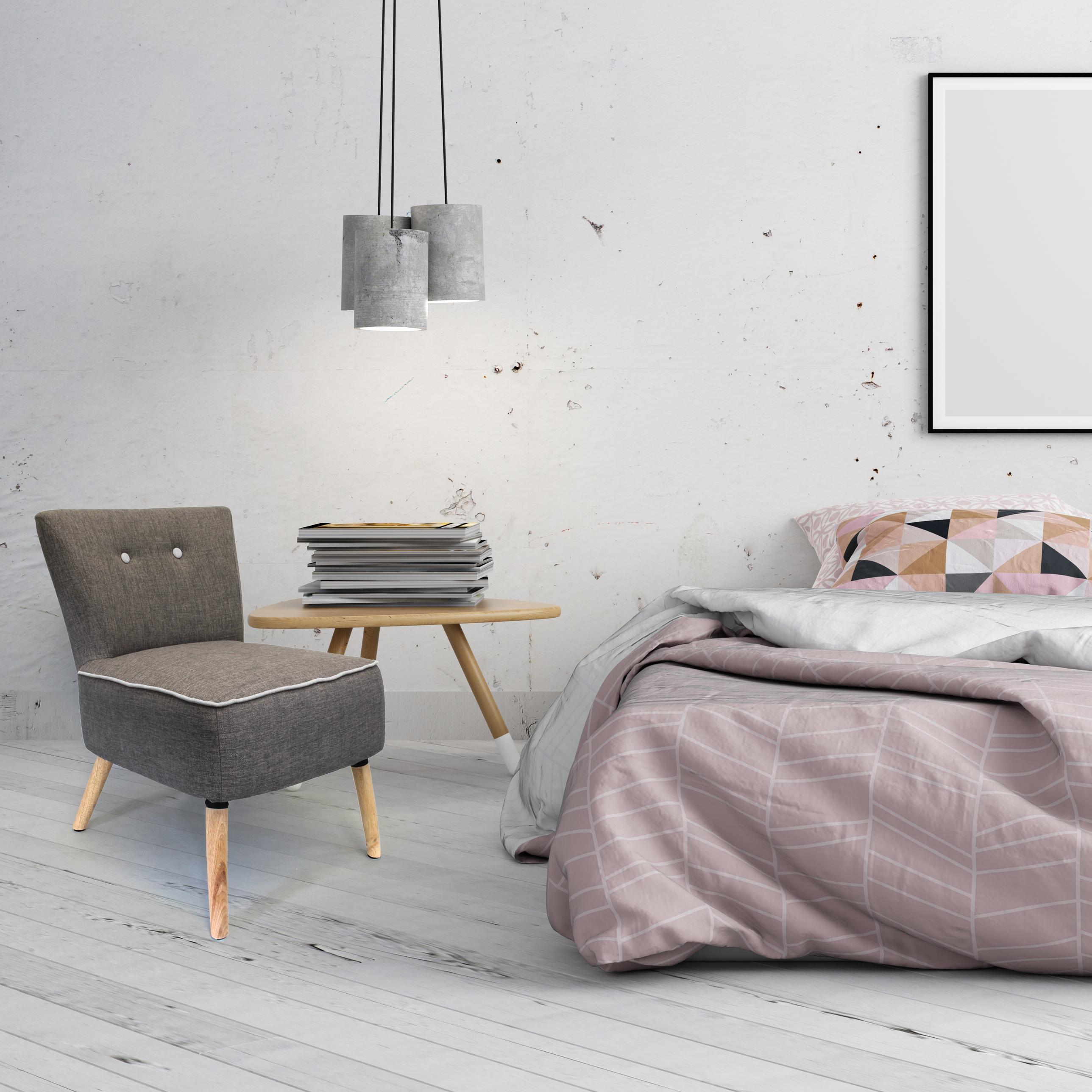 fauteuil vintage gris