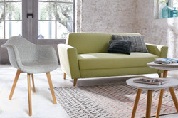 fauteuil tissu gris