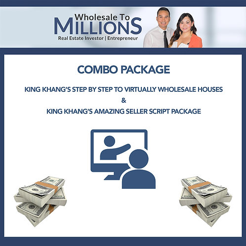 COMBO PACKAGE Step by Step to Virtually Wholesale Houses & Amazing Seller Script