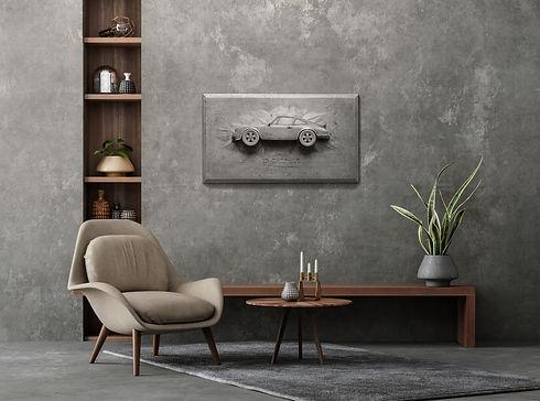 gray concrete Porsche Carrera RS 2.7 Advanced Canvas