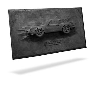 dark gray concrete Porsche Carrera RS 2.7 Canvas