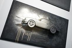 Porsche 911 Carrera RS 2.7 in dark gray with champagne chrome