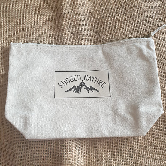 Canvas Zipped Wash Bag