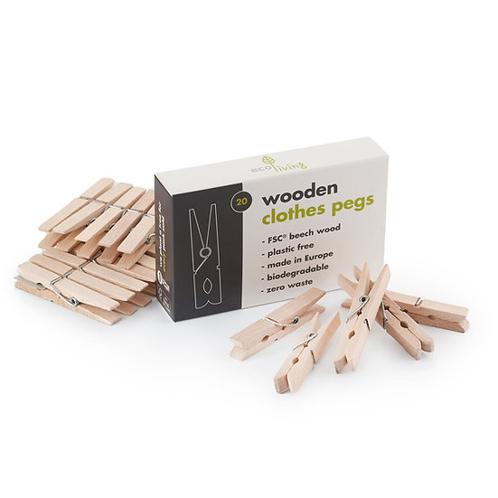 Wooden Clothes Pegs (FSC 100%)
