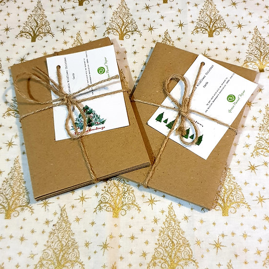 5 Plantable Wildflower seed Christmas Cards