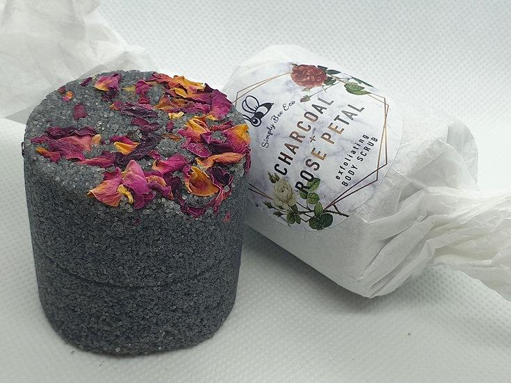 Charcoal & Rose Petal Body Scrub