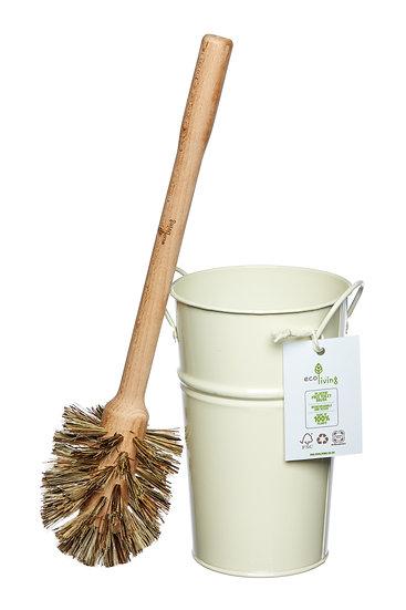 Plastic Free Toilet Brush & Holder Set - Large Brush