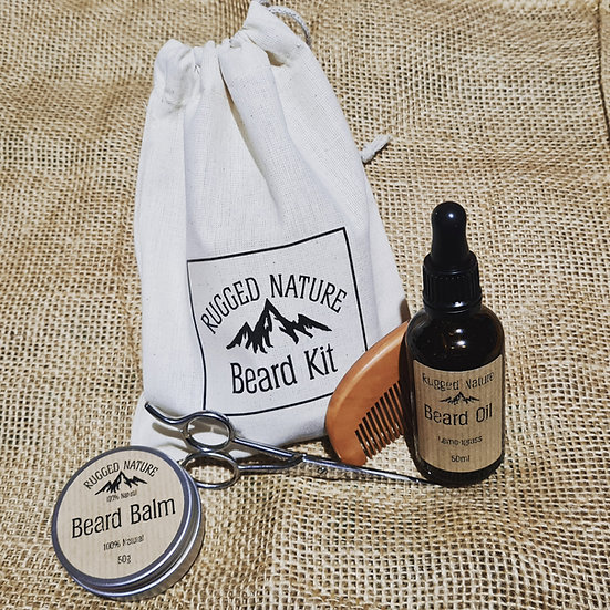 Rugged Nature 100% Natural Beard Kit