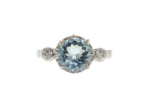 Lovely 2.02ct Aquamarine ring