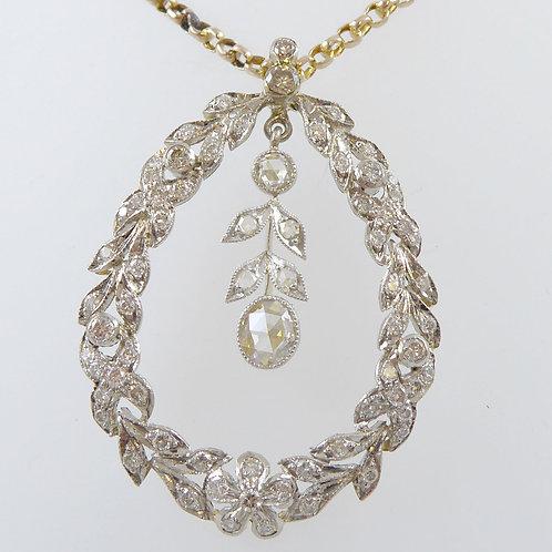 Edwardian 1.25 Carat Diamond Pendant