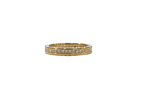 Princess cut diamond eternity ring