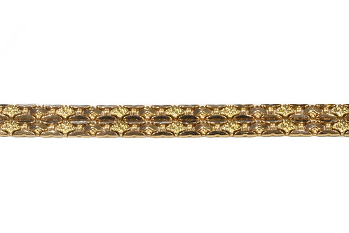 Heavy weight 18ct yellow gold bracelet