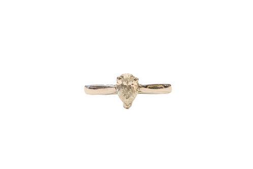 pear cut diamond solitaire
