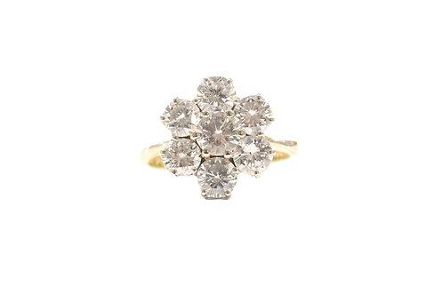 Diamond Seven stone cluster ring
