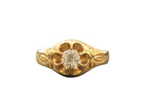 Gents Diamond set signet ring