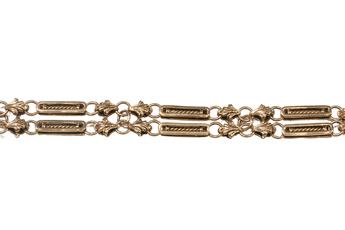 Antique double row bracelet