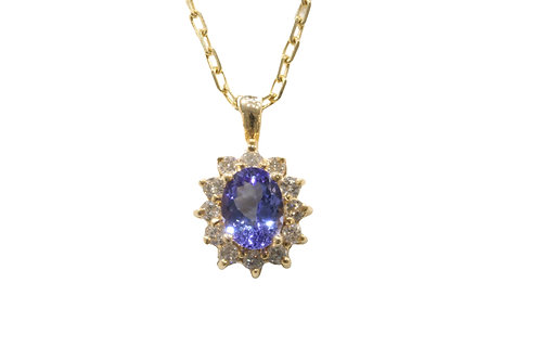 1.50ct Tanzanite and diamond pendant