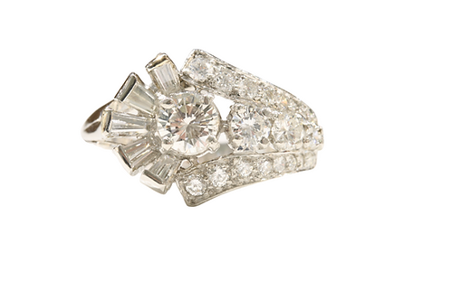 Diamond cluster ring 1.70ct