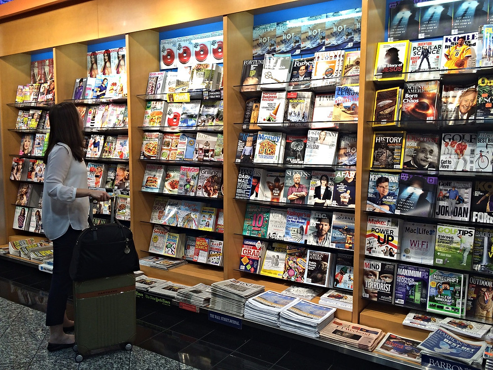 Magazines and airplane priced books can be $$$; Pack something in your carry-on or download your favorites on your smartphone.