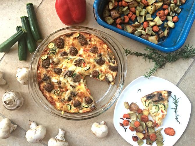 Breakfast Frittata + Roasted Root Vegetables