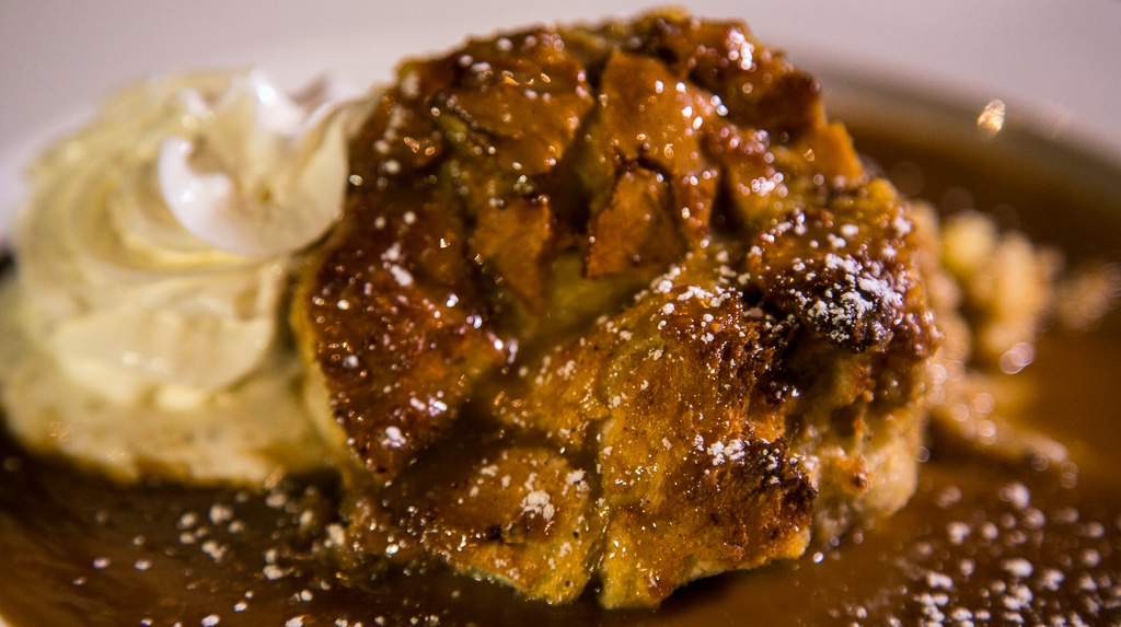 Homemade Bread Pudding with Bourbon
