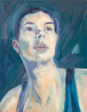 Portrait of a woman with long neck