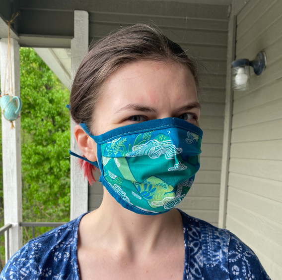 Blue mask on model